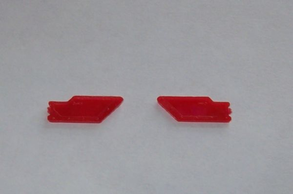 CORGI TOYS 324 Marcos 1800 Red plastic door trim panel LEFT HAND
